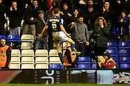 Birmingham City midfielder Maikel Kieftenbeld celebrates goal during the Sky Bet Championship match between Birmingham City and Brentford at St Andrews, Birmingham, England on 2 January 2016. Photo by Alan Franklin.