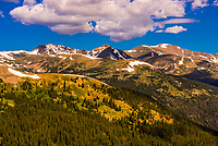 Loveland Pass is a high mountain pass in north-central Colorado, at an elevation of 11,990 feet (3,655 m) in the Rocky Mountains. It is located on the Continental Divide, on U.S. Highway 6.