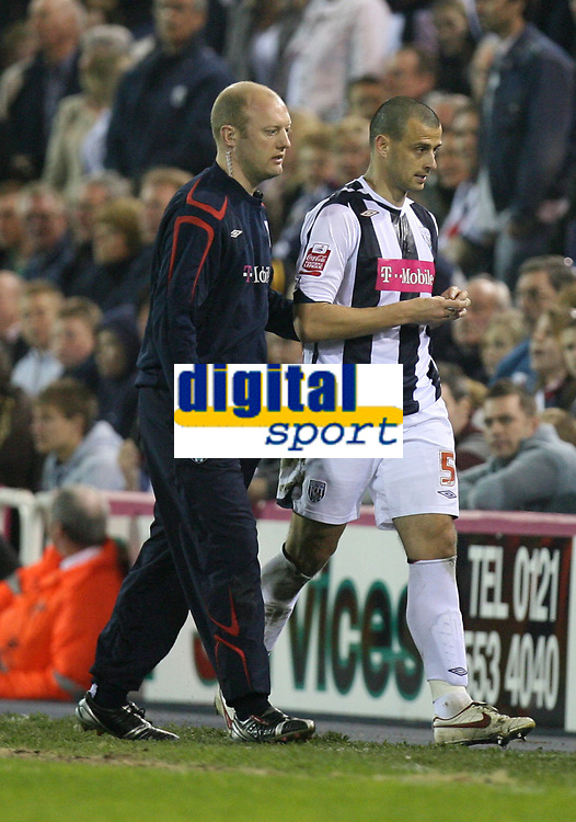 Photo: Rich Eaton.<br /> <br /> West Bromwich Albion v Sheffield Wednesday. Coca Cola Championship. 13/04/2007. West Broms Neil Clement leaves the field after being red carded late in the second half