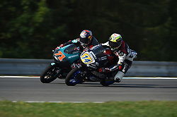 August 5, 2018 - Brno, Brno, Czech Republic - 71 Japanese driver Ayumu Sasaki of Team Petronas Sprinta Racing and  14 Italian driver Tony Arbolino of Team Marinelli Snipers during race in Brno Circuit for Czech Republic Grand Prix in Brno Circuit on August 5, 2018 in Brno, Czech Republic. (Credit Image: © Andrea Diodato/NurPhoto via ZUMA Press)