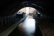 Birmingham and Fazeley Canal running through Birmingham, England, United Kingdom.