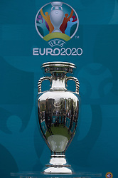 The Henri Delaunay Cup, which made a special visit to London today as part of the UEFA EURO 2020 Trophy Tour. Issue date: Friday June 4, 2021.