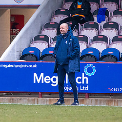 06MAR21 Queen of the South's Manager Allan Johnston. Arbroath 2 v 4 Queen of the South, Scottish Championship played 6/3/2021 at Arbroath's home ground, Gayfield Park.