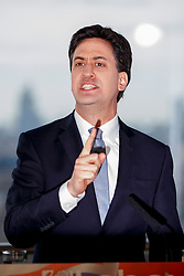 © Licensed to London News Pictures. 27/03/2015. LONDON, UK. Leader of the Labour Party Ed Miliband launches Labour's 2015 General Election campaign at Orbit, Queen Elizabeth Olympic Park in London on Friday, 27 March 2015. Photo credit : Tolga Akmen/LNP