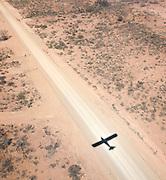 Shadow of plane in flight, Flinders Ranges, South Australia, Australia