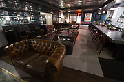 Interior of Marks Bar at Hix Restaurant on 4th November 2015 in London, United Kingdom. Celebraty chef, Mark Hix, late night cocktail and wine bar in Soho