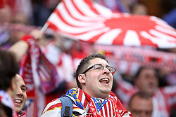 12.05.2010, Hamburg Arena, Hamburg, GER, UEFA Europa League Finale, Atletico Madrid vs Fulham FC im Bild .Atletico de Madrid's supporters . EXPA Pictures © 2010, PhotoCredit: EXPA/ nph/  Alvaro Hernandez / SPORTIDA PHOTO AGENCY