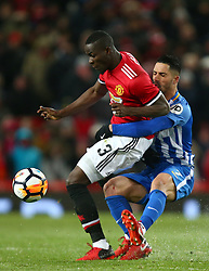 Manchester United's Eric Bailly (left) and Brighton & Hove Albion's Beram Kayal