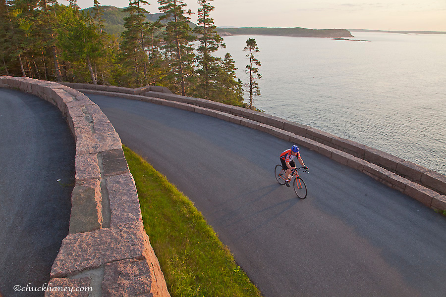 Road bicycling in Acadia National Park, Maine USA  model released