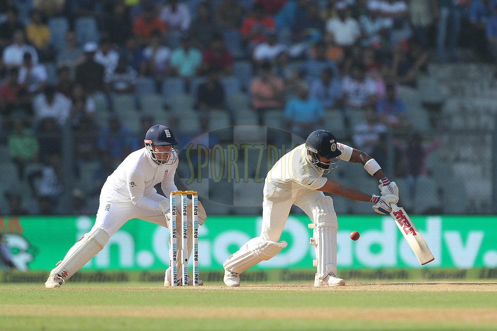 Virat Kohli Captain of India during day 4 of the fourth test match between India and England held at the Wankhede Stadium, Mumbai on the 11th December 2016.<br /> <br /> Photo by: Ron Gaunt/ BCCI/ SPORTZPICS