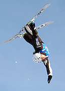 Australia's Lydia Lassila competes in the qualifying round in the women's World Cup freestyle aerials event at Deer Valley Resort, Friday, Jan. 15, 2010, in Park City, Utah. (AP Photo/Colin E Braley).