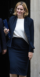 Downing Street, London, October 11th 2016. Government ministers leave the first post-conference cabinet meeting. PICTURED: Home Secretary Amber Rudd