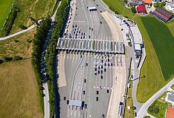 THEMENBILD - ASFINAG Mautstelle Schönberg, Brennerautobahn A13, Samstag 27. Juli 2019 // ASFINAG tollbooth Schönberg, Brennerautobahn A13, Saturday 27. July 2019. EXPA Pictures © 2019, PhotoCredit: EXPA/ Johann Groder
