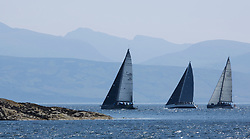 Sailing - SCOTLAND  - 25th-28th May 2018<br /> <br /> The Scottish Series 2018, organised by the  Clyde Cruising Club, <br /> <br /> First days racing on Loch Fyne.<br /> <br /> IRC Class 1 fleet of Inchmarnock, IRL2007, Jump Juice, Conor Phelan, RCYC, Ker 37 custom<br /> <br /> Credit : Marc Turner<br /> <br /> <br /> Event is supported by Helly Hansen, Luddon, Silvers Marine, Tunnocks, Hempel and Argyll & Bute Council along with Bowmore, The Botanist and The Botanist