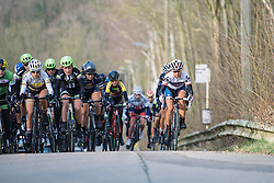 Carmen Small begins the first of five ascents of the categorised climb on the finishing circuit - 2016 Omloop van het Hageland - Tielt-Winge, a 129km road race starting and finishing in Tielt-Winge, on February 28, 2016 in Vlaams-Brabant, Belgium.