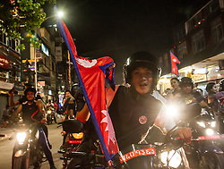 20th September 2015<br /> Today, after a decade of revision, amendment and debate, Nepal president Ram Baran Yadav announces the adoption of the long awaited constitution. <br /> Thousands of Nepalis take to theit motorcycles to celebrate.