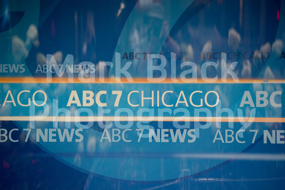 ABC 7 Chicago TV news offices on State Street in Chicago, Illinois. Photo by Mark Black