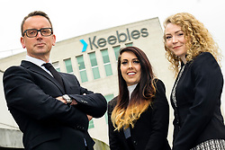 Left to right Richard Smith Keebles Commercial Property Partner with Newly Qualified Solicitors Kate Langley and Louise Ward <br /> <br /> <br />  Copyright Paul David Drabble<br />  16th April 2019<br />  www.pauldaviddrabble.co.uk