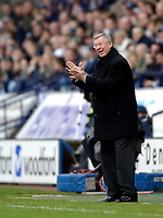 Photo: Jed Wee.<br />Bolton Wanderers v Manchester United. The Barclays Premiership. 01/04/2006.<br />Manchester United manager Sir Alex Ferguson applauds his players.