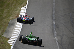 April 23, 2018 - Birmingham, Alabama, United States of America - MATHEUS LEIST (4) of Brazil battles for position through the turns during the Honda Grand Prix of Alabama at Barber Motorsports Park in Birmingham, Alabama. (Credit Image: © Justin R. Noe Asp Inc/ASP via ZUMA Wire)