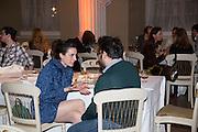 GAIA FUGAZZA; GIOVANNI CARMINE, Lisson Gallery dinner, Banqueting House. London. 15 October 2013