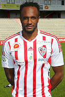 Kassim Abdallah during the photocall of Ac Ajaccio for new season on October 17th 2016<br /> Photo : Jean Pierre Belzit / Icon Sport