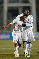 FOOTBALL - UEFA CHAMPIONS LEAGUE 2011/2012 - 1/8 FINAL - 1ST LEG - OLYMPIQUE MARSEILLE v INTER MILAN - 22/02/2012 - PHOTO PHILIPPE LAURENSON / DPPI - ANDRE AYEW (OM) AND SOULEYMANE DIAWARA (OM)