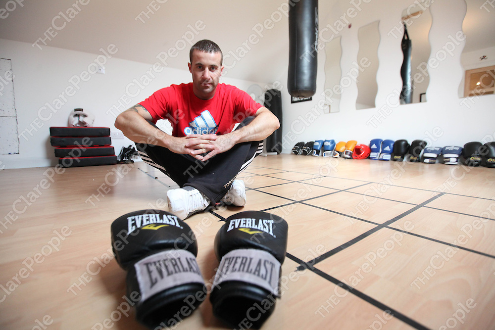 Marty Hannan pictured at home on Monday. He is to make his Boxing Professional Debut in June.<br />  Pic. Brian Arthur/ Press 22