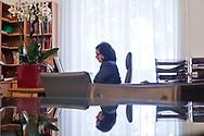 07112013. Paris. Emmanuelle Cosse, vice-présidente du conseil régional d'ële-de-France, chargée du logement, de l'habitat, du renouvellement urbain et de l'action foncière, dans son bureau.  07112013. Paris. Emmanuelle Cosse, vice-présidente du conseil régional d'Ile-de-France, chargée du logement, de l'habitat, du renouvellement urbain et de l'action foncière, dans son bureau.