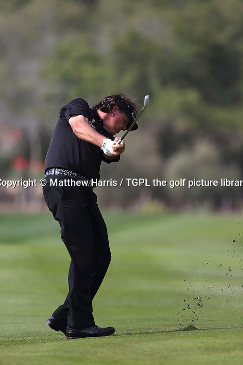 Phil MICKLESON (USA) during fourth round HSBC Abu Dhabi Championship 2014,Abu Dhabi Golf Club,Abu Dhabi,UAE.