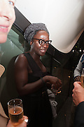 Lynette Yiadom-Boakye, VIP opening  of the new Serpentine Sackler Gallery designed by Zaha Hadid . Kensinton Gdns. London. 25 September 2013