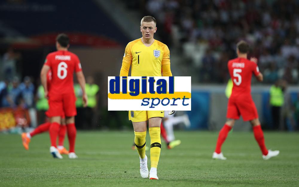 Football - 2018 FIFA World Cup - Group G: England vs. Tunisia<br /> <br /> England goalkeeper Jordan Pickford is seen at Volgograd Arena, Volgograd.<br /> <br /> COLORSPORT/IAN MACNICOL