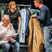 NLD//Amsterdam20160415 - Persdag toneelstuk In de Ban van Broadway, Leny Breederveld, Bianca Krijgsman en Peter Blok