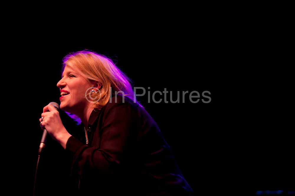 London, UK. Friday 1st March 2013. Clare Teal performing at the Royal Festival Hall. Clare Teal is an English jazz singer who has become famous not only for her singing, but also for having signed the biggest ever recording contract by a British jazz singer.