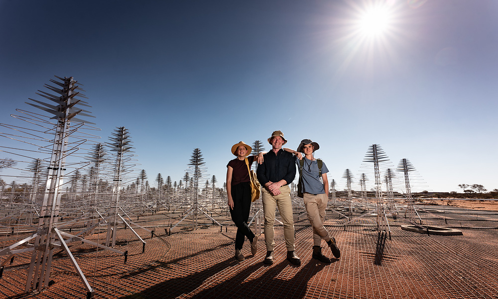 SKA's low frequency aperture array antennas in the Murchison region of Western Australia