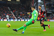 Lukasz Fabianski (1) of West Ham United clears the ball during the Premier League match between Bournemouth and West Ham United at the Vitality Stadium, Bournemouth, England on 19 January 2019.