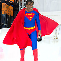 Al Roker as Superman during the annual Halloween Episode of NBC's The Today Show in New York City.