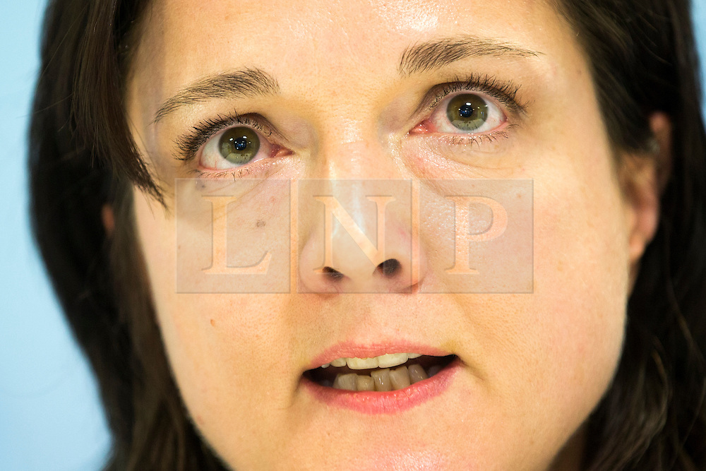 """© Licensed to London News Pictures. 30/01/2017. Manchester UK. Assistant Chief Constable Rebekah Sutcliffe reads a statement at Manchester Police Headquarters this afternoon after she is allowed to keep her job & is given a final written warning. ACC Sutcliffe appeared at a further Gross Misconduct hearing today. Chief Constable Sutcliffe has all ready been found guilty of Gross Misconduct after telling Superintendent Sarah Jackson she was """"silly, vain & frivolous"""" for getting breast implants during a senior Women in Policing conference. Today's hearing will determine what disciplinary action should be imposed on ACC Sutcliffe. Photo credit: Andrew McCaren/LNP"""