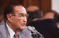 Senator  Strom Thurmond  Republican senator South Carolina during a Senate Committee hearing.<br /><br />Photograph ny Dennis Brack. bb78