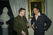 Russell Sage and Tom Dixon, Elle Decoration Design Awards, The Wallace Collection, Hertford House, Manchester Square, London. 5 November 2007. -DO NOT ARCHIVE-© Copyright Photograph by Dafydd Jones. 248 Clapham Rd. London SW9 0PZ. Tel 0207 820 0771. www.dafjones.com.