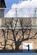 The perimeter wall. HMP Wandsworth, London, United Kingdom