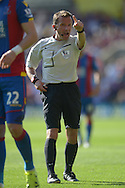 Referee Keith Stroud in action.  Barclays Premier league match, Crystal Palace v Aston Villa at Selhurst Park in London on Saturday 22nd August 2015.<br /> pic by John Patrick Fletcher, Andrew Orchard sports photography.