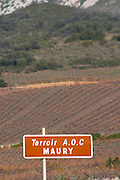 Terroir AOC Maury. Maury. Roussillon. France. Europe. Vineyard.