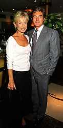 MR & MRS NIGEL HAVERS, he is the actor, at a party in London on 29th September 1999.MWX 59