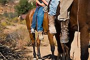 Young Kumiai indian boys ride their horses above the indigenous village of San Antonio Necua, Baja California Norte, Mexico.