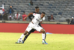 South Africa: Gauteng: Orlando Pirates player Innocent Maela and Bidvest Wits Mxolisi Macuphu  battle for the ball during the Absa Premiership at orlando stadium, Johannesburg.<br />Picture: Itumeleng English/African News Agency (ANA)