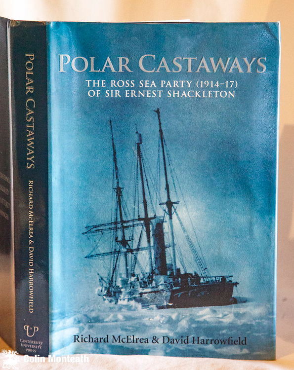 POLAR CASTAWAYS - The Ross Sea party 1914-17 of Sir Ernest Shackleton. Richard McElrea & David Harrowfield, 1st edition, 2004, Canterbury University Press, Christchurch - 315 page hardback VG+ with VG jacket,  B&W plates, maps, By far the best account of Shackleton's Ross Sea party, in part because it tells of the often overlooked saga of the Aurora adrift rudderless in the Ross Sea - utterly harrowing This copy inscribed by David Harrowfield & Richard McElrea to Arnold Heine . $NZ85