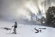 Borovets ski resort at winter