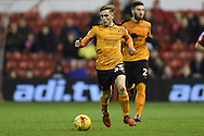Wolverhampton Wanderers midfielder Connor Ronan (43) during the EFL Sky Bet Championship match between Nottingham Forest and Wolverhampton Wanderers at the City Ground, Nottingham, England on 17 December 2016. Photo by Jon Hobley.
