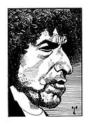 Portrait of Bob Dylan